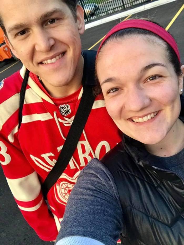 Tess and I at Hockeytown 5K